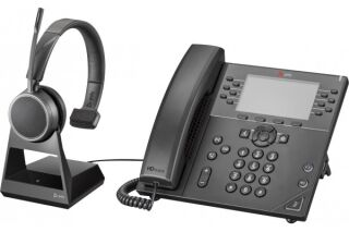 POLY Voyager 4210 Office Casque 1 écout. Base TEL/GSM