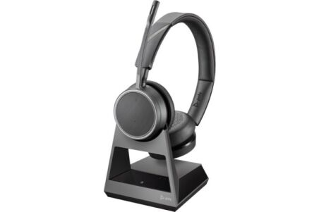 POLY Voyager 4220 Office Casque 2 écout. Base TEL/GSM/USB-A