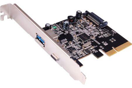 Carte contrôleur USB 3.1 Gen.2 PCI-Express 1 port A +1 Type-C