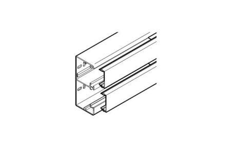 REHAU GOULOTTE CLIDI 130x55 - 2 COMPARTIMENTS AVEC COUVERCLE PVC BLANC 2 m
