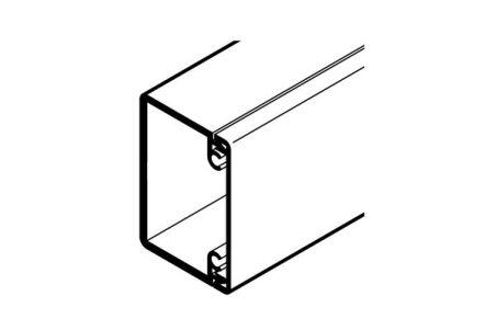REHAU GOULOTTE AXIS 60x40 - 1 COMPARTIMENT PVC BLANC IK10 2 m