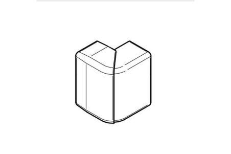 REHAU ANGLE EXTERIEUR VARIABLE POUR GOULOTTE CLIDI 130x55 PVC BLANC