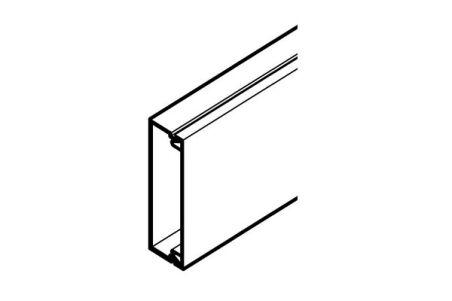 REHAU MOULURE AXIS MINI 50x20 - 1 COMPARTIMENT PVC BLANC 2 m