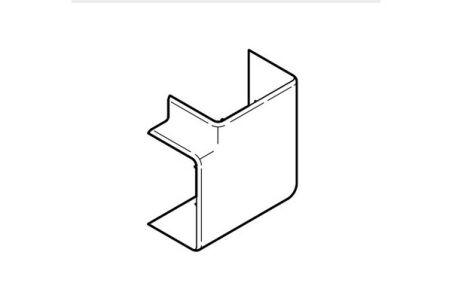 REHAU ANGLE PLAT POUR GOULOTTE CLIDI 130x55 PVC BLANC