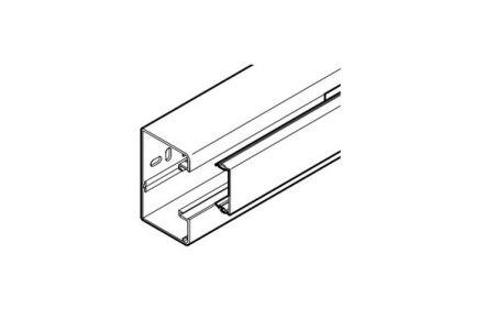 REHAU GOULOTTE CLIDI 90x55 - 1 COMPARTIMENT AVEC COUVERCLE PVC BLANC 2 m