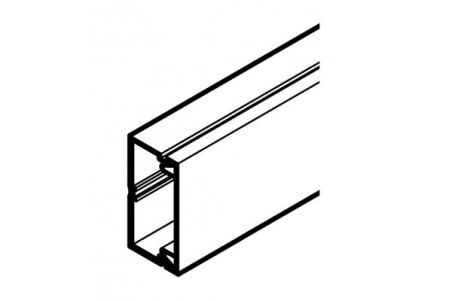 REHAU MOULURE AXIS MINI 32x16 - 1 COMPARTIMENT PVC BLANC 2 m