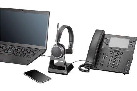 POLY Voyager 4210 Office Casque 1 écout. Base TEL/GSM/USB-C