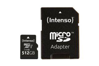 INTENSO Carte MicroSDXC UHS-I Premium Class 10 - 512 Go