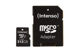 INTENSO Carte MicroSDXC UHS-I Premium Class 10 - 512Go