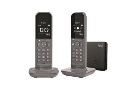 Gigaset CL390 Duo téléphone DECT Gris Base + 2 combinés