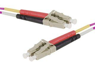 Jarretière optique duplex HD multi OM4 50/125 LC-UPC/LC-UPC erika - 30 m