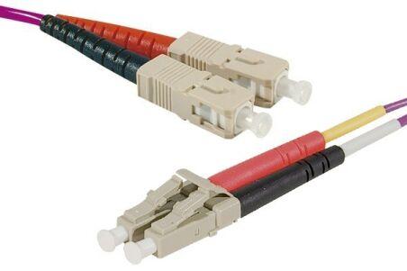 Jarretière optique duplex HD multi OM4 50/125 SC-UPC/LC-UPC erika - 0,5 m