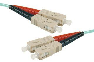 Jarretière optique duplex HD multi OM3 50/125 SC-UPC/SC-UPC aqua - 20 m