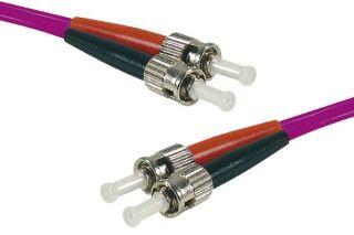 Jarretière optique duplex HD multi OM4 50/125 ST-UPC/ST-UPC erika - 15 m