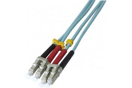 Jarretière optique duplex HD multi OM3 50/125 LC-UPC/LC-UPC aqua - 15 m