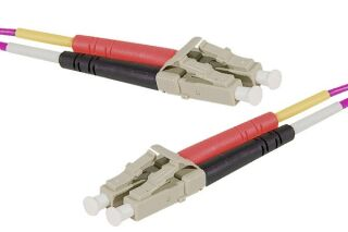 Jarretière optique duplex HD multi OM4 50/125 LC-UPC/LC-UPC erika - 50 m