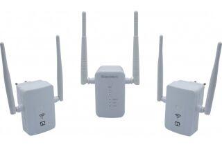Prolongateur portée WiFi 5 - Base MESH + 2 satellites AC1200