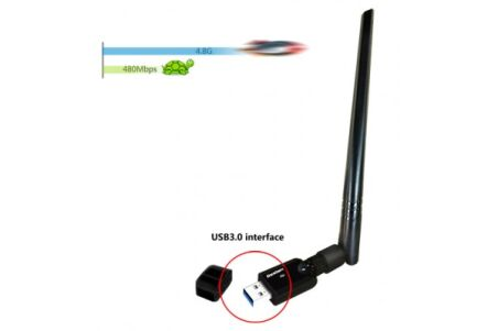 MINI CLÉ USB WiFi AC1200 ANTENNE DEMONTABLE