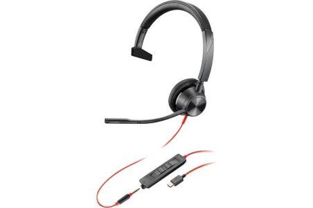 POLY Blackwire BW3315 casque USB-C + Jack - 1 écouteur