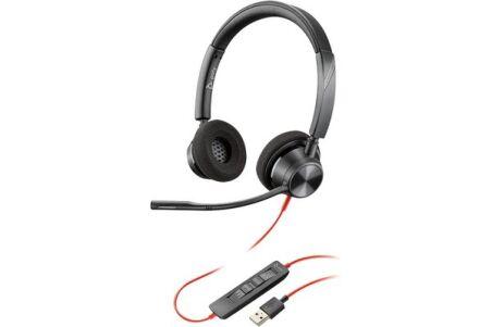 POLY Blackwire BW3320-M casque USB-A - 2 écouteurs