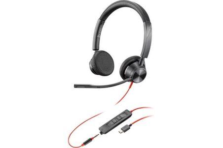 POLY Blackwire BW3325 casque USB-C + Jack - 2 écouteurs