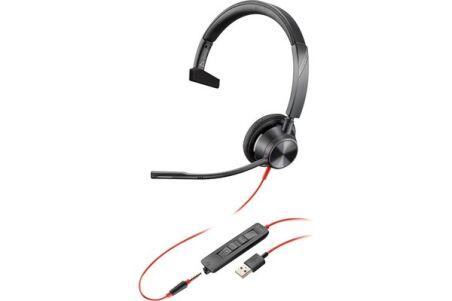 POLY Blackwire BW3315 casque USB-A + Jack - 1 écouteur