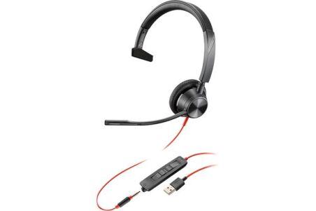 POLY Blackwire BW3315-M casque USB-A + Jack - 1 écouteur