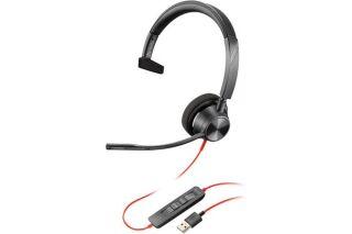 POLY Blackwire BW3310-M casque USB-A - 1 écouteur