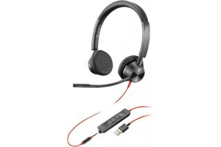 POLY Blackwire BW3325-M casque USB-A + Jack - 2 écouteurs