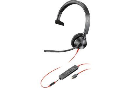 POLY Blackwire BW3315-M casque USB-C + Jack - 1 écouteur