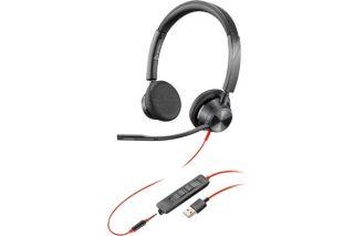 POLY Blackwire BW3325 casque USB-A + Jack - 2 écouteurs