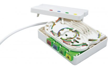 PTO / DTIO 4 SC/APC câble abonné G657 - 40 m