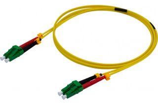 Jarretière duplex 2.0 mm OS2 LC-APC/LC-APC jaune - 1 m