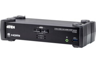ATEN CS1822 KVM HDMI 4K/USB 3.0 2 Ports + audio