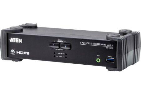 ATEN CS1822 KVM HDMI 4K/USB 3.0 2 Ports + audio
