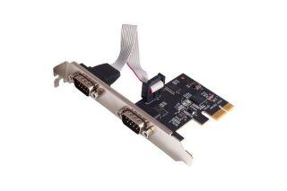 CARTE PCI EXPRESS 2 PORT SERIE DB9 avec kit Low profile