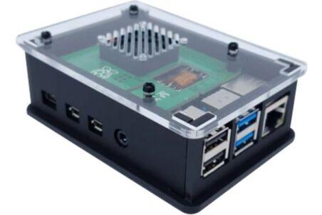 Boîtier compatible PoE HAT pour Raspberry Pi 4