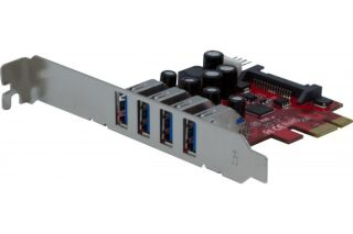 Carte PCIe 4 port USB-A 3.0  (Chipset NEC)