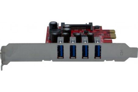 Carte PCIe 4 port USB-A 3.0  (Chipset NEC)