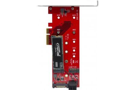 Carte PCIe 4x triple SSD M.2. - 1 x NVMe + 2 x SATA