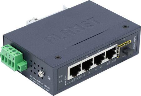 PLANET IGS-510TF Switch Indust. 4p Gigabit & 1 SFP 100/1G