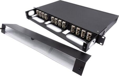"""Panneau de brassage 19"""" 1U modulaire à équiper de cassettes"""