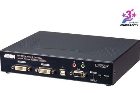ATEN PREMIUM KE6940AT EMET PROL. KVM DOUBLE DVI/USB  IP/SDP