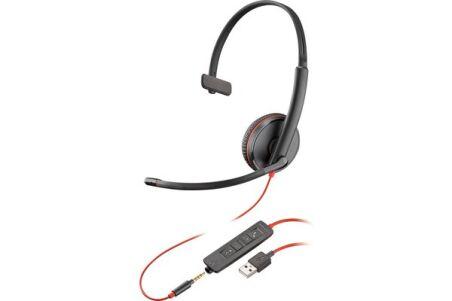 POLY Blackwire C3215 bulk casque USB-A+Jack -1 écout.