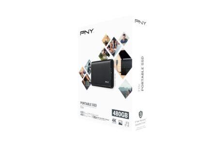 PNY Disque SSD externe Elite USB 3.1 Gen1 480 Go noir