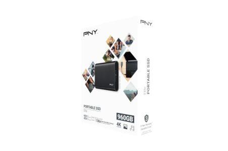 PNY Disque SSD externe Elite USB 3.1 Gen1 960 Go noir