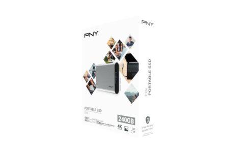PNY Disque SSD externe Elite USB 3.1 Gen1 240 Go gris