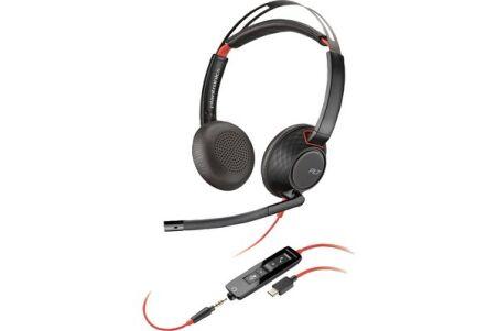 POLY Blackwire C5220 Micro-casque MS USB-C+Jack - 2 écout.