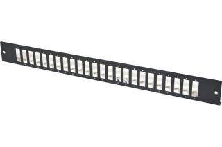 Façade nue 24 SC Duplex / LC Quad pour tiroir optique 1U