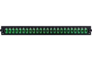 Façade équipée 24 SC APC SM Simplex pour tiroir optique 1U